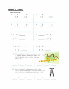 Interactive worksheet CHAPTER 1 LESSON 1