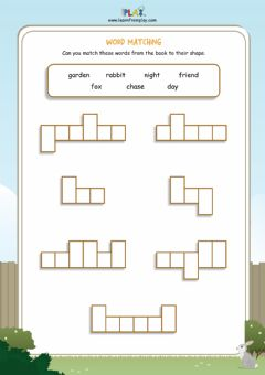 Interactive worksheet One Runaway Rabbit - Word Shapes