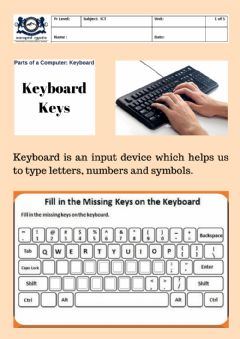 Interactive worksheet Keyboard Keys For Year 2