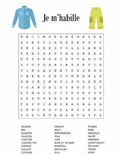 Interactive worksheet Les vetements