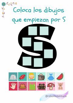 Interactive worksheet La letra S