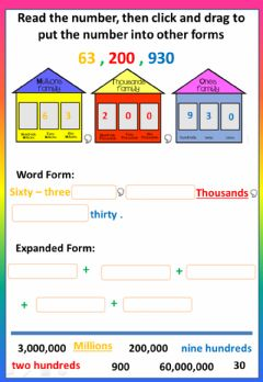 Interactive worksheet 1.3 - Reading and Writing Numbers