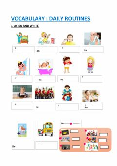 Interactive worksheet Vocabulary unit 2