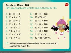 Interactive worksheet Number bonds to 10 and 100