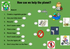Interactive worksheet How can we help the planet?