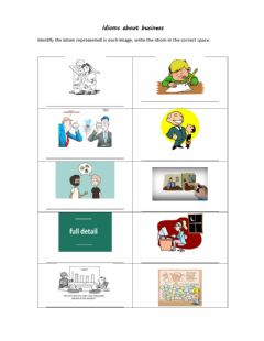 Ficha interactiva Idioms about business