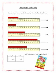 Interactive worksheet Standard Measurement