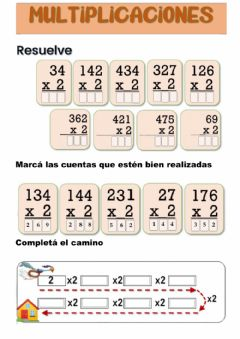 Interactive worksheet Multiplicaciones