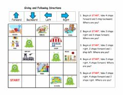 Interactive worksheet Giving and Following Directions