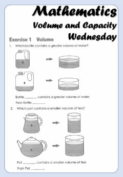 Interactive worksheet Mathematics - 3B - Capacity and Volume B