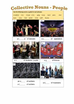 Interactive worksheet Collective Nouns - People
