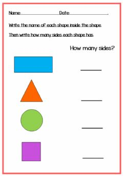 Interactive worksheet Flat Shapes - names and sides