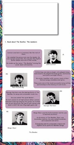 Interactive worksheet The Beatles - the band 2