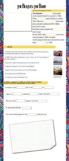 Interactive worksheet The Beatles - the band