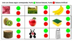Interactive worksheet Las Texturas Naturales y artifiiales