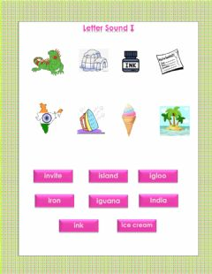Interactive worksheet Letter sound I