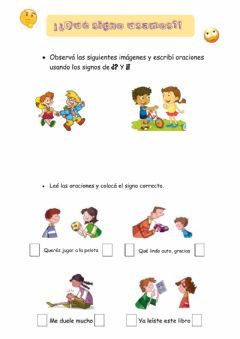 Interactive worksheet Signos de puntuacion