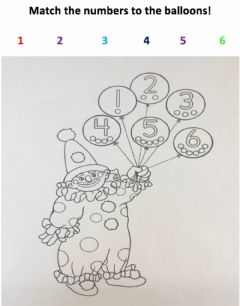 Interactive worksheet Match the Numbers 1-6