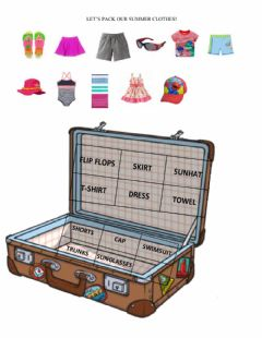 Interactive worksheet Pack your summer clothes