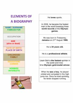 Interactive worksheet Biography