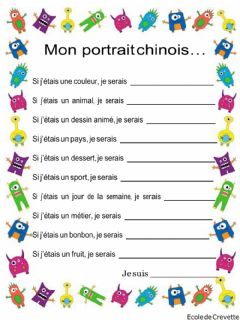 Interactive worksheet Qui suis-je ?