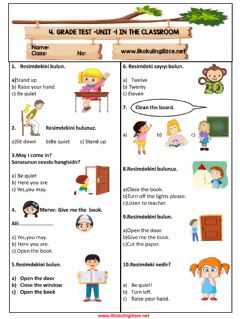 Interactive worksheet 4.1 Classroom Rules Test