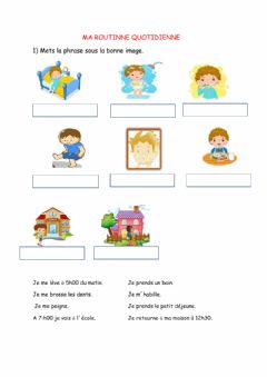 Interactive worksheet La routne quotidienne