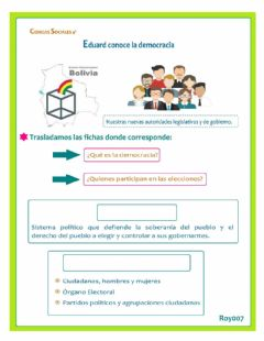 Interactive worksheet La democracia