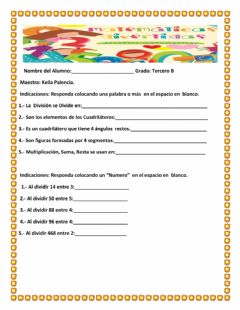 Interactive worksheet Division