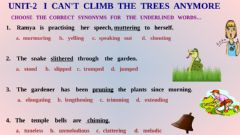 Interactive worksheet I can 't  climb  trees  anymore-Synonyms....