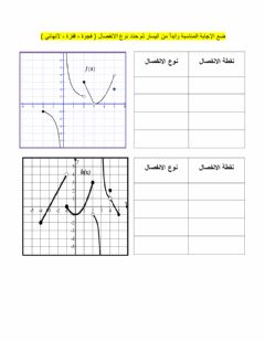 Interactive worksheet الاتصال