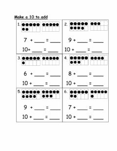 Interactive worksheet Make a 10 to add