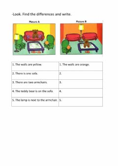 Interactive worksheet Find the differences