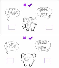 Interactive worksheet Hello-goodbye