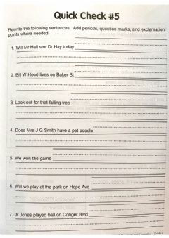 Interactive worksheet Quick Check 5