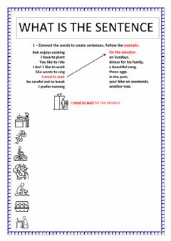 Interactive worksheet What is the sentence