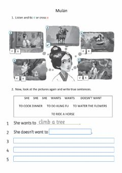 Interactive worksheet Mulan - Listening