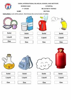 Interactive worksheet Science Quiz