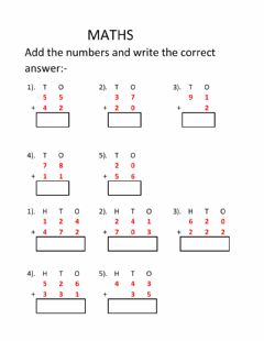 Maths Worksheets And Online Exercises