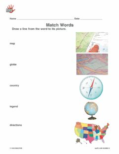 Interactive worksheet Maps globes