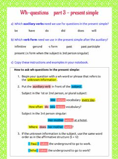 Interactive worksheet Wh-questions - part 3