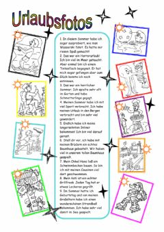 Interactive worksheet Urlaub