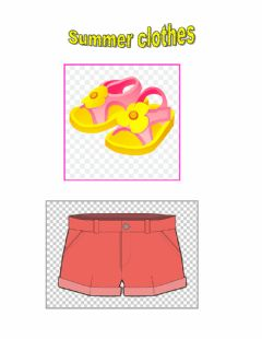 Interactive worksheet Summer clothes