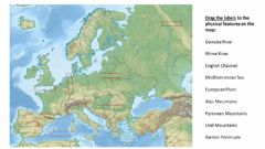 Interactive worksheet Europe Physical Features Map SS6G7