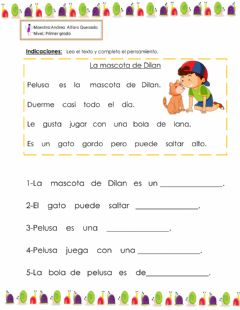 Interactive worksheet Fonema G
