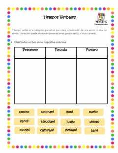 Interactive worksheet Tiempos Verbales