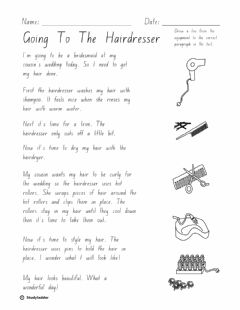 Interactive worksheet Going to the Hairdresser