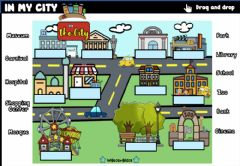 Interactive worksheet In the City(Drag and drop)