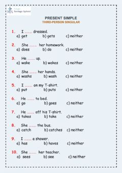 Interactive worksheet Third-person singular
