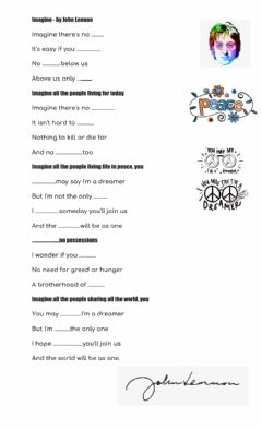 Interactive worksheet Imagine